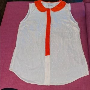 Anthropologie 9-H15 StCL Brand Silk Top